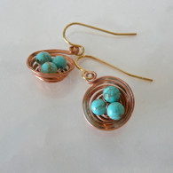 LeDance Robin's Copper Nest Earrings