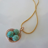 LeDance Robin's Copper Nest Necklace