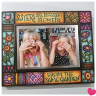 MACONE STUDIO Sisters are Different Flowers WOOD PICTURE FRAME