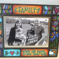 MACONE STUDIO FAMILY LOVE WOOD PICTURE FRAME