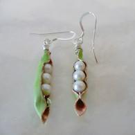 LeDance Pea Pod Faux Pearl Earrings