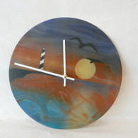 DEBORAH DICKINSON Lighthouse Landscape Triple Wall Clock