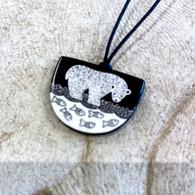 VIRGINIA MISKA CERAMIC JEWELRY Beautiful  Bear Necklace