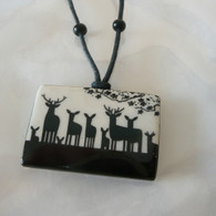 VIRGINIA MISKA CERAMIC JEWELRY Herd of Elk Necklace