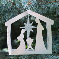 SONDRA GERBER Nativity Scene Hanging Ornament
