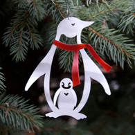 SONDRA GERBER  Penguin with Red Scarf Hanging Ornament