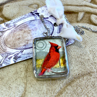 ALYSSE HENNESSEY  Red Cardinal Necklace
