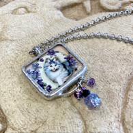 ALYSSE HENNESSEY  Lavender Kitty Necklace