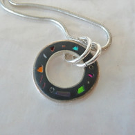 Debra Abrams Inlaid Black Polymer Sterling Necklace