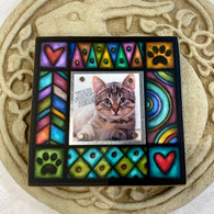 MACONE STUDIO PAW/HEART...WOOD PICTURE FRAME