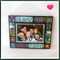 MACONE STUDIO FAMILY PERFECT MIX OF LOVE WOOD PICTURE FRAME