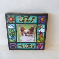 MACONE STUDIO HOME IS WHERE MY DOG IS WOOD PICTURE FRAME