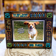 MACONE STUDIO THE BEST THINGS IN LIFE ARE FURRY WOOD PICTURE FRAME