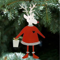 SONDRA GERBER Reindeer Hanging Ornament