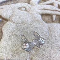 THOMAS KUHNER JEWELRY Hammered Silver Heart Earrings