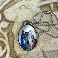 DREAMBIRD ART Silver Wolf Necklace
