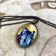 DREAMBIRD ART Gold Wolf Necklace