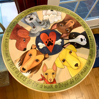 SINCERELY STICKS Love of Dogs Lazy Susan