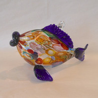 ART OF FIRE Blue Art Glass Fish