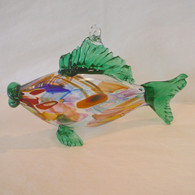 ART OF FIRE Emerald Art Glass Fish