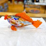 ART OF FIRE Orange Art Glass Fish