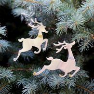 SONDRA GERBER Dancing Deer Duo Hanging Ornament