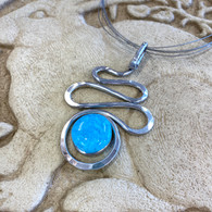 THE ARTIST JAY Light Cyan Squiggle Silhouette Necklace