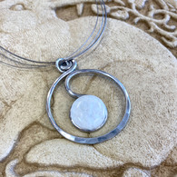 THE ARTIST JAY White Scribbles Circle Necklace