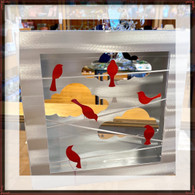 SONDRA GERBER Birds on Wire Shadow Box