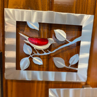 SONDRA GERBER Single Red Bird Panel