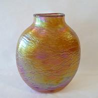 TOM STOENNER ART GLASS VASE Luster Pouch 1 Gold