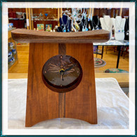 SABBATH-DAY WOODS Dragonfly Face Mantle Clock