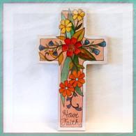 SINCERELY STICKS GROW FAITH HANGING CROSS