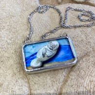 ALYSSE HENNESSEY Manatee & Baby Necklace