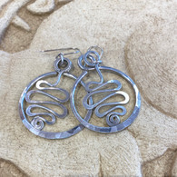 THE ARTIST JAY  Squiggle Circle Earrings