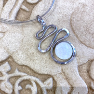 THE ARTIST JAY White Squiggle Silhouette Necklace