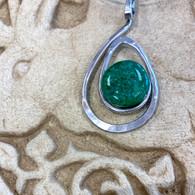 THE ARTIST JAY Green Open Teardrop Necklace