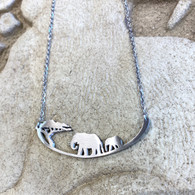 CLOSE TO YOUR ❤️Elephant and Baby Necklace