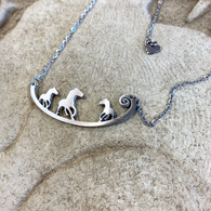 CLOSE TO YOUR ❤️ Wild Horses Living Free Necklace