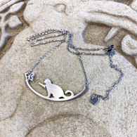 CLOSE TO YOUR ❤️ Cat & Butterfly Necklace