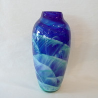MARK ROSENBAUM ART GLASS VASE Dreamscape Vase Blue/Green