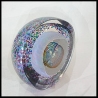 Sculptural Blown Glass Paperweight Handmade in the USA On Sale