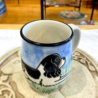 Black & White Caviliar King Charles Spaniel Ceramic Mug - Handmade in the USA