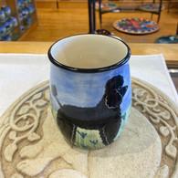 Black Poodle Ceramic Mug Handmade in the USA