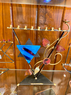 GARY ROSENTHAL Triangular Tree of Life Menorah