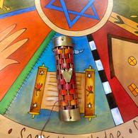 GARY ROSENTHAL Copper Weave Mezuzah