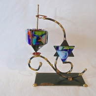 GARY ROSENTHAL Dreidel on Star Stand