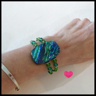 SEA OF GLASS Green Gold Bracelet