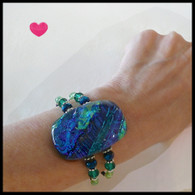 SEA OF GLASS Blue Green Bracelet