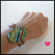 SEA OF GLASS Faux Silk Bracelet